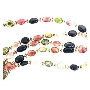 Colors of Tourmaline Sterling Silver Necklace